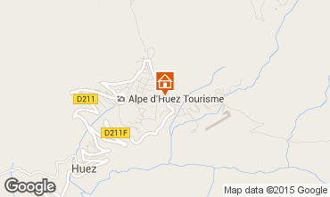 Map Alpe d'Huez Studio apartment 49666