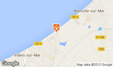 Map Villers sur Mer Apartment 67497