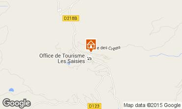 Map Les Saisies Studio apartment 2708