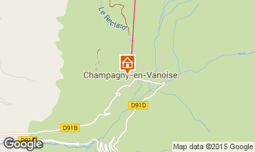 Map Champagny en Vanoise Apartment 69456
