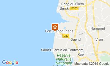Map Fort Mahon Studio apartment 117728