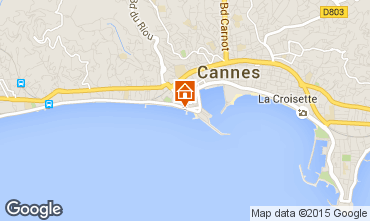 Map Cannes Apartment 62604