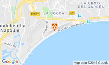 Map Cannes Apartment 118529
