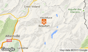 Map Areches Beaufort Self-catering property 367