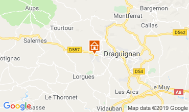 Map Draguignan Villa 117687