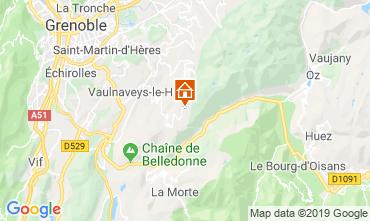 Map Chamrousse Studio apartment 744
