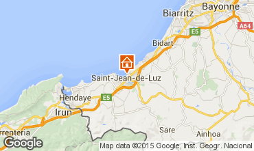 Map Saint Jean de Luz Studio apartment 9304