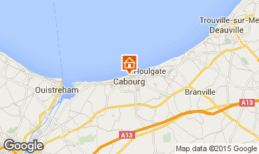 Map Cabourg Apartment 88477