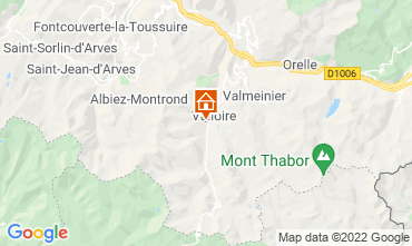 Map Valloire Self-catering property 31573