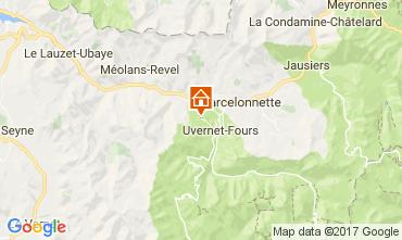 Map Pra Loup Apartment 80160