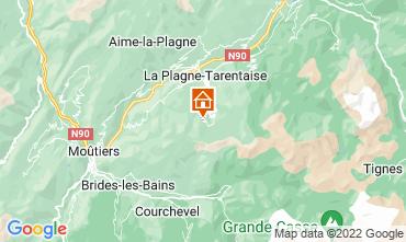 Map La Plagne Studio apartment 79768