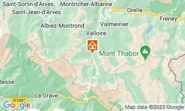 Map Valloire Apartment 3383