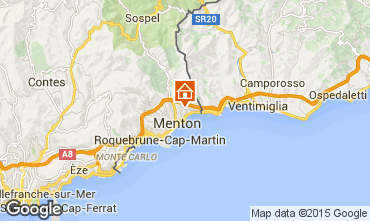 Map Menton Self-catering property 5408