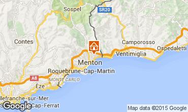 Map Menton Self-catering property 5408