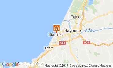 Map Biarritz Apartment 105192