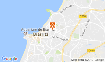 Map Biarritz Apartment 105192