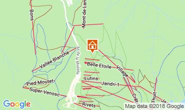 Map Les 2 Alpes Apartment 116663