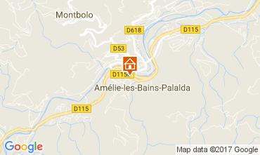 Map Amélie-Les-Bains Studio apartment 112815