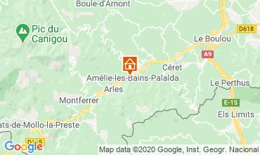 Map Amélie-Les-Bains Studio apartment 101149