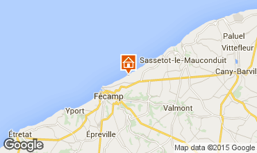 Map Fécamp Self-catering property 19757