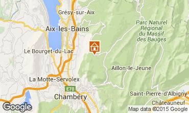 Map La Féclaz Chalet 65968