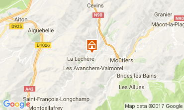 Map Valmorel Chalet 111890