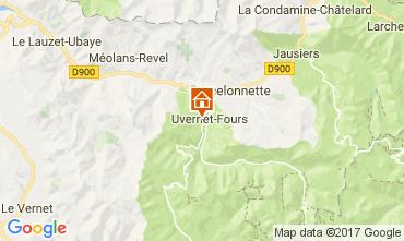 Map Barcelonnette Apartment 112000