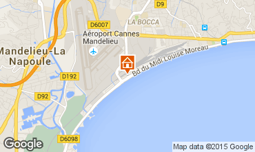 Map Cannes Studio apartment 5505