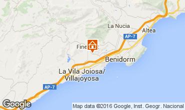 Map Benidorm Villa 102368