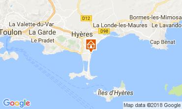 Map Hyères Studio apartment 107873