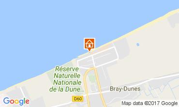 Map Bray-Dunes Apartment 105330
