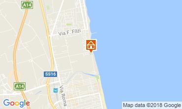 Map Alba Adriatica Apartment 61621