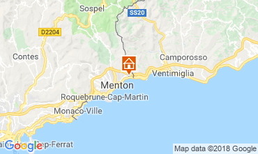 Map Menton Apartment 59052