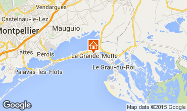 Map La Grande Motte Studio apartment 78017