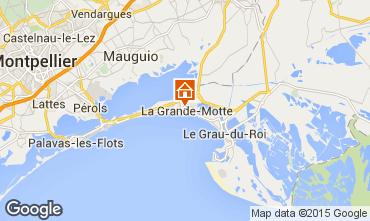 Map La Grande Motte Studio apartment 78017