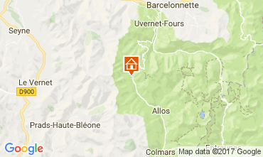 Map Val d'Allos Apartment 50706