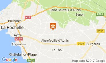 Map La Rochelle Offbeat accommodation 112463