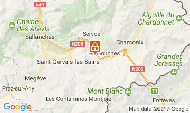 Map Chamonix Mont-Blanc Apartment 16023