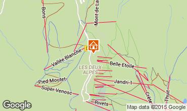 Map Les 2 Alpes Studio apartment 1149