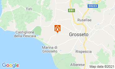 Map Grosseto Self-catering property 17537