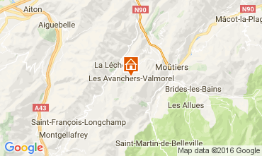 Map Valmorel Chalet 17349