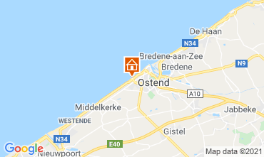 Map Ostend Studio apartment 9588
