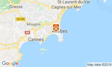 Map Juan les Pins Apartment 116732