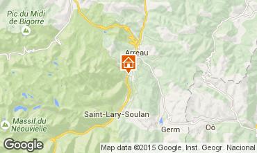 Map Saint Lary Soulan Apartment 79767