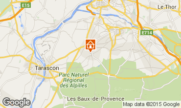 Map Saint Rémy de Provence Self-catering property 12197