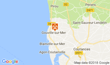 Map Gouville sur Mer Self-catering property 97855