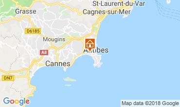 Map Juan les Pins Apartment 115721