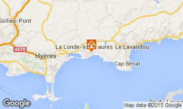 Map La Londe les Maures Apartment 68566