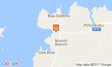 Map Baja Sardinia Apartment 97464