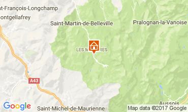 Map Les Menuires Apartment 112148